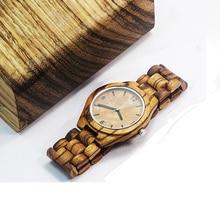 Natural Wood Watch male wooden Luxury Retro Raw Sandal Wrist