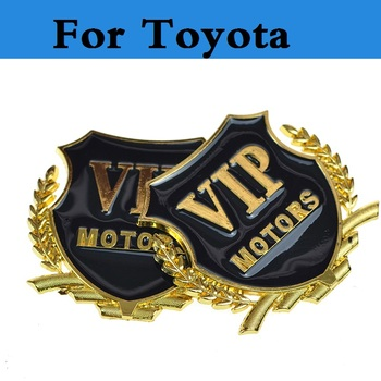 2 colors Car Body Side Vip Metal Emblem Badge Decal Sticker For Toyota Avensis Aygo Belta Blade Brevis Caldina Cami Camry image