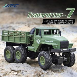 JJRC Q68 1/18 RC Truck 2.4G 6WD RC Off-road Crawler Military Truck Army Car Children Gift Kids Toy for Boys RTR