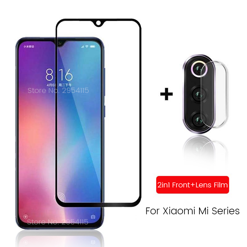 2-in-1 Camera Glass For Xiaomi Mi 9lite 9 Lite Light Tempered Glass On Xiomi Mi 9 Se 9t Pro 9se Mi9lite Mi9se Mi9 Mi9t Lens Film