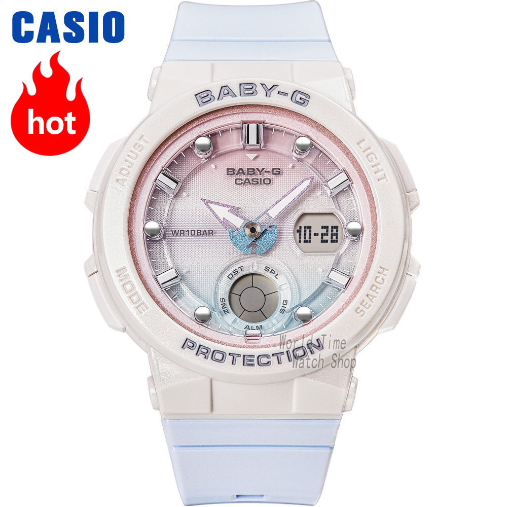 Casio Watch BABY-G Women's Quartz Sports Watch Sports Waterproof Girl Series Baby G Watch BGA-250