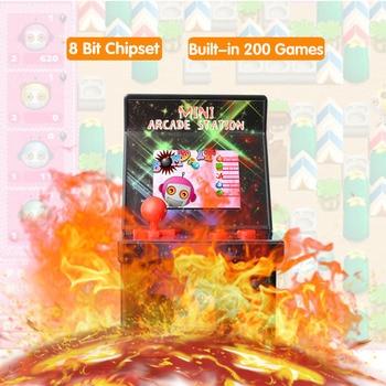 8-Bit Mini Arcade Games Built-in 200 Classic Games Portable Retro Handheld mini Game Console for Kids 2
