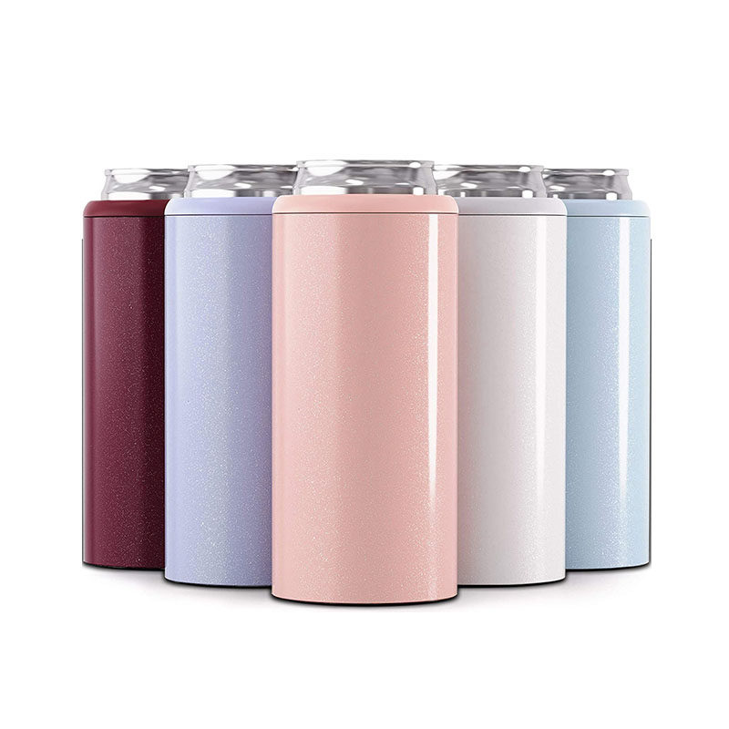 New product 12oz Double wall 304 stainless steel thermos insulated vacuum beer cooler,Skinny Can Cooler