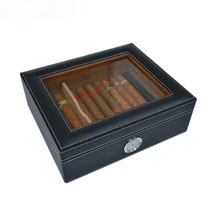 Spanish Cedar Cigar Humidor Box Cedar Wood Display Box Cigar humidifier Leather Moisturize Storage Case Box