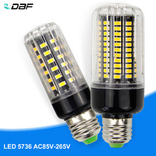 [DBF]E27/E14 LED Corn lamp Bulb light SMD 5736 3W 5W 7W 9W 12W 15W 18W 85V-265V More Bright 5730 5733 Constant current driver(China)