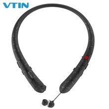 VTIN Wireless Headphones Retractable Earbuds Sport Neckband Bluetooth 4.1 headphones 12 Play Time IPX5 Waterproof Earphones