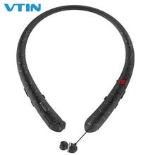 VTIN Wireless Headphones Retractable Earbuds Sport Neckband Bluetooth 4.1 headphones 12 Play Time IPX5 Waterproof Earphones hbs 850 bluetooth 4 1 headphones neckband workout earphones