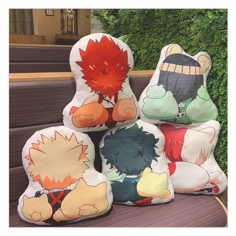 42-45cm meu herói academia travesseiro brinquedo anime izuku bakugou todoroki tsuyu kirishima eijiro recheado boneca dupla face caso para presente