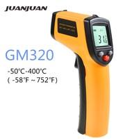 GM320 инфракрасный термометр-50-400 ℃ Бесконтактный лазерный цифровой ЖК-дисплей мгновенное считывание измеритель температуры тестер 40% скидка
