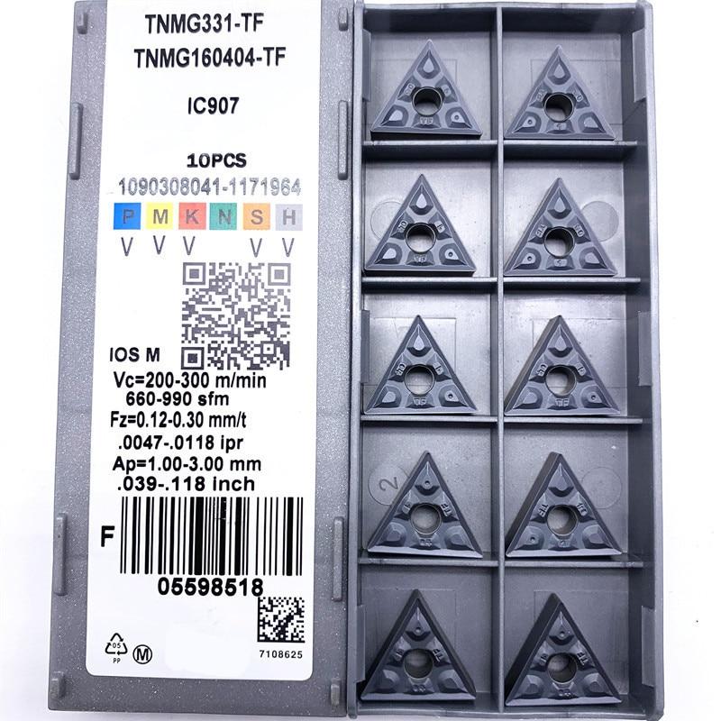 TNMG160404 TF IC907 / IC908 External Turning Tools Carbide Insert TNMG 160404 Lathe Cutter Tool Tokarnyy Turning Insert