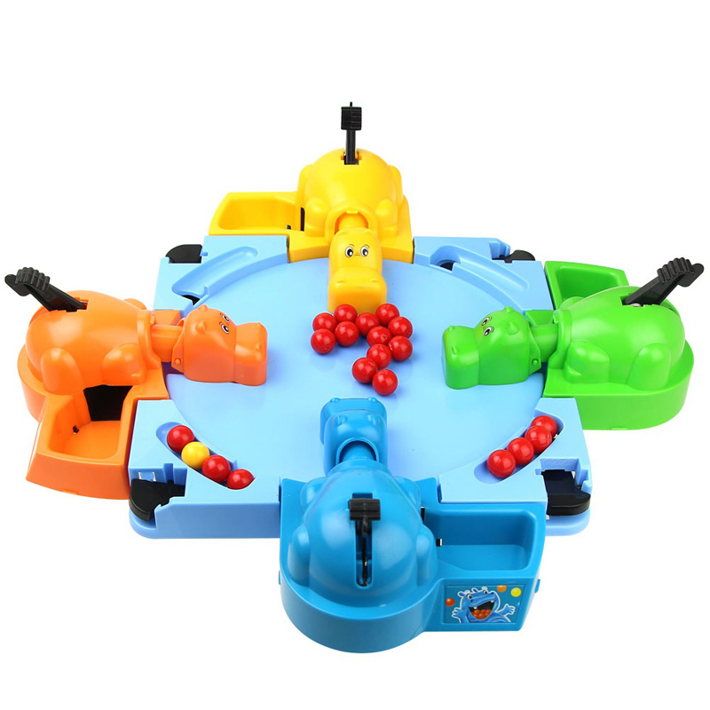 Feeding Hungry Hippo Marble Swallowing Ball Game Feeding Interactive With Parent And Kids Toys Educational Toys For Children