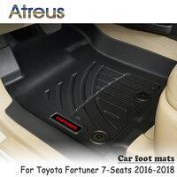 Atreus nowy 1 zestaw TPE dywanik podłogowy do samochodu dla Toyota Fortuner 7 miejsc 2016 2017 2018 Anti slip wykładzina wodoodporna akcesoria w Dywaniki od Samochody i motocykle na