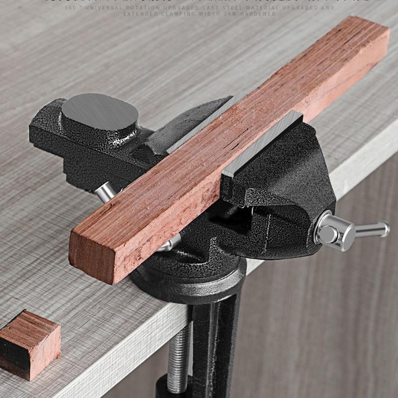 Muliti-Funcational Bench Vise Mini Rotating Tables Screws Vise Bench Clamp Screws Vise For DIY Crafts Mold Fixed Repair Tool-25