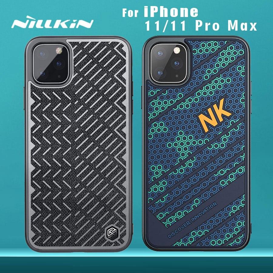 Para o iphone 11 11 Pro 11 Pro Max caso NILLKIN Striker Caso PC TPU silicone esportes reflexivas estilo tampa Traseira para o iphone caso 11