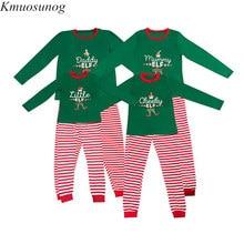 цена на Family Christmas Pajamas Set 2019 New Xmas Mum Dad Kid Baby Sleepwear Nightwear Homewear Family Matching Pjs Set C0579