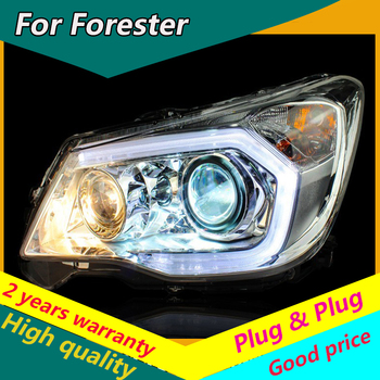 KOWELL Car Styling for Forester Headlights 2013-2016 Original Design LED Headlight LED DRL Bi Xenon Lens High Low Beam Parking image