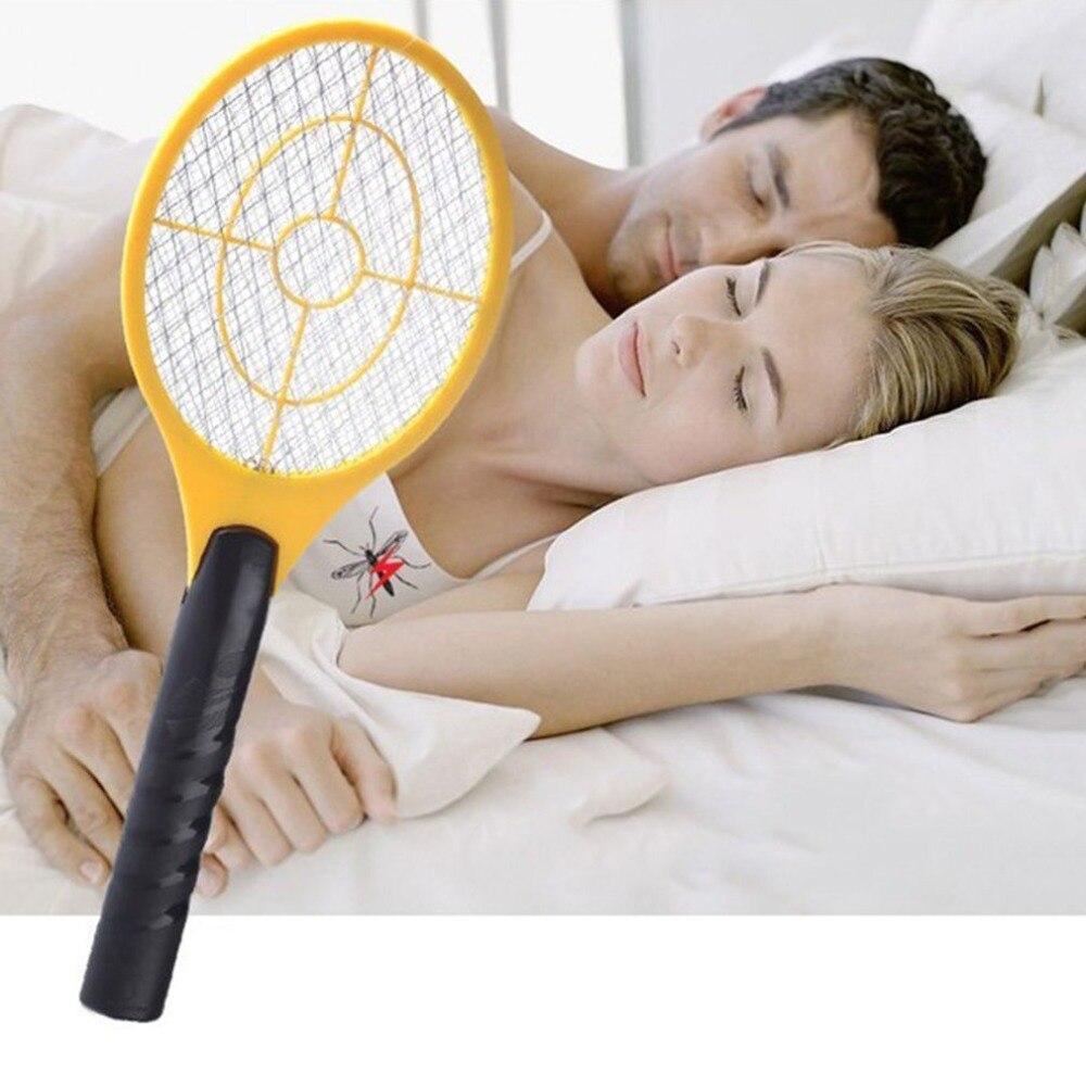 Multifunctionele Dubbele Cirkel Ontwerp Handheld Elektrische Tennisracket Batterij Aangedreven Elektrische Mug Swatter