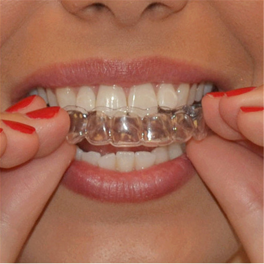 2PCS Thermoforming Moldable Mouth Dental Teeth Whitening Trays Bleaching Molding Trays Oral Care Gel Mouthguard Tray Dropship