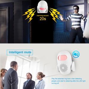 Image 4 - KERUI M120 Smart 100db PIR Infrared Anti Theft Burglar Welcome Multifunction Human Motion Detector For Garage Shop Home Security