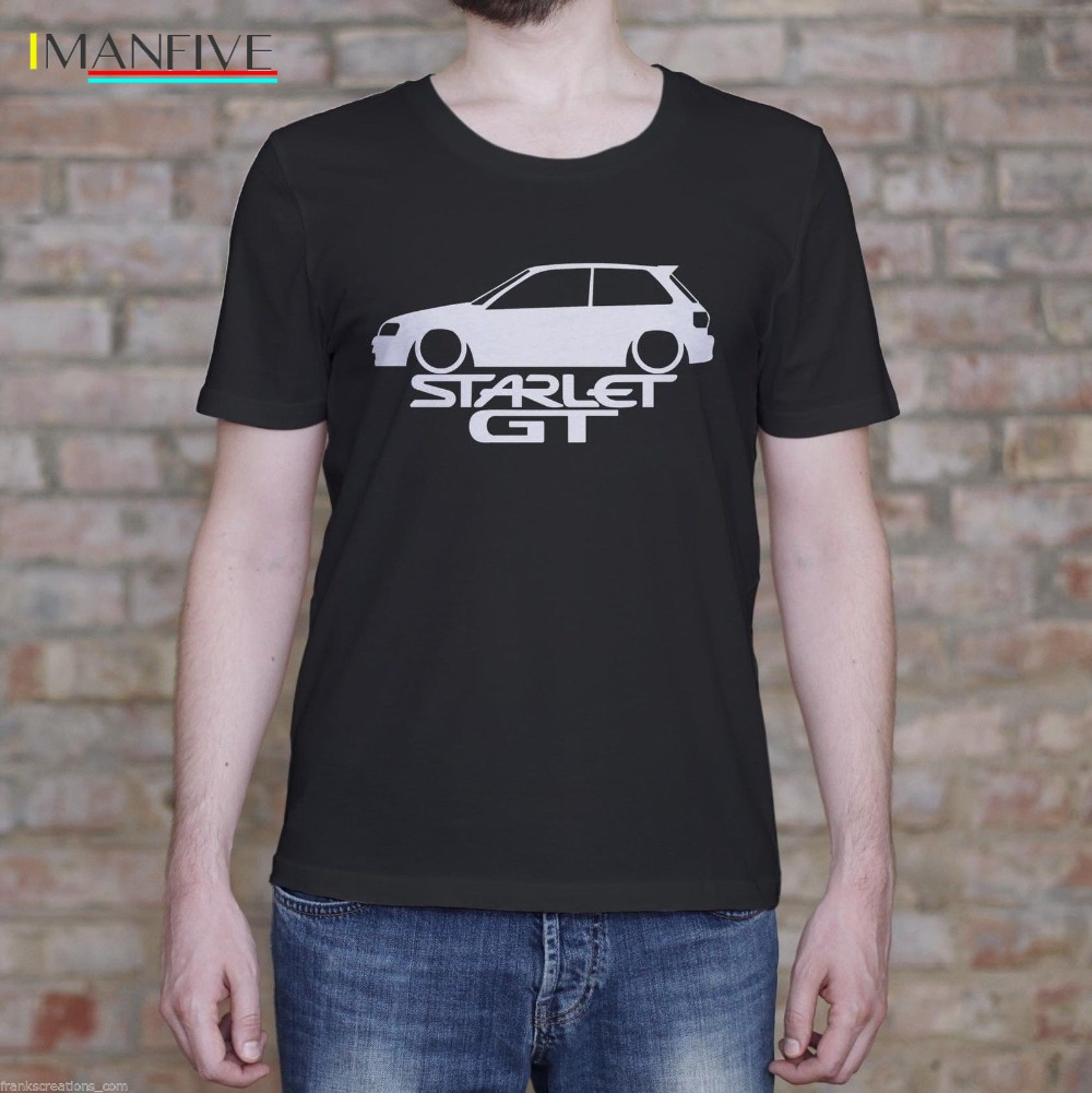 2019 Newest Fashion Starlet GT Shirt Fast EP82 Turbo Classic Gift Men 39 s T Shirt Men 39 S High Quality Tees in T Shirts from Men 39 s Clothing