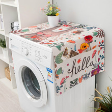INS Cute Rabbit Flower Print Dust Cover Washing Machine Refrigerator Microwave Waterproof And Oil-Proof Sunscreen Cover Towel