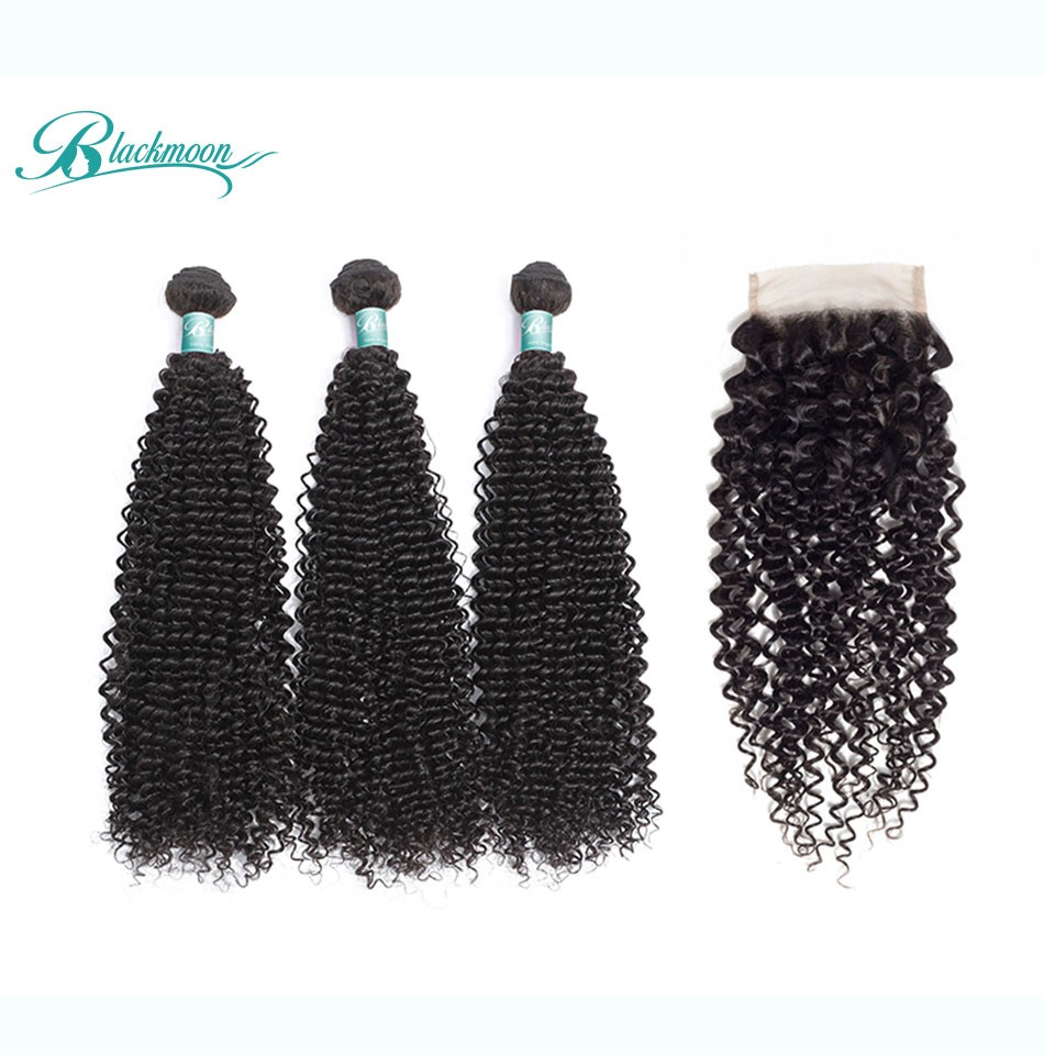 afro curly bundles with closure3+4_04