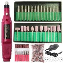 1 Juego de máquina pulidora eléctrica profesional de uñas, bolígrafo para manicura, puntas de pedicura, pulidora de uñas, brocas para uñas, Kit de molino de Gel