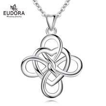 Женские ожерелья с кулоном eudora вечерние 18 дюймов подарок