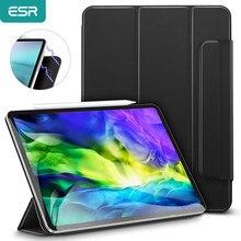 ESR étui iPad pour iPad Pro 11 étui 2020 12.9 pouces étui magnétique couverture intelligente pour iPad Pro étui à crayons fermoir 4th génération étui