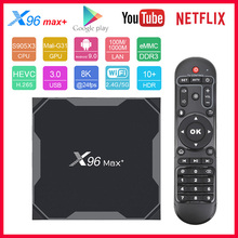 X96 MAX Plus Amlogic S905X3 Quad Core Android 9.0 TV Box 8K 2.4G&5G Dual Wifi Media Player 4GB 32GB/64GB 2GB 16GB Smart tv Box in stock original pipo x9 2gb 32gb quad core mini pc smart tv box dual os windows 10
