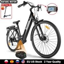 NEW High Torque Electric City Bicycle 250W 130KM Road Bike 700C ebike bicicleta eletrica with Bafang M200 Mid Motor 15Ah Battery