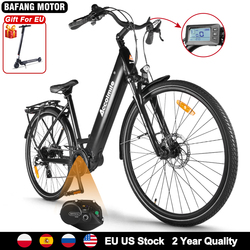 NEW High Torque Electric City Bicycle 250W 130KM Road Bike 700C ebike bicicleta eletrica with Bafang M200 Mid Motor 15Ah Battery