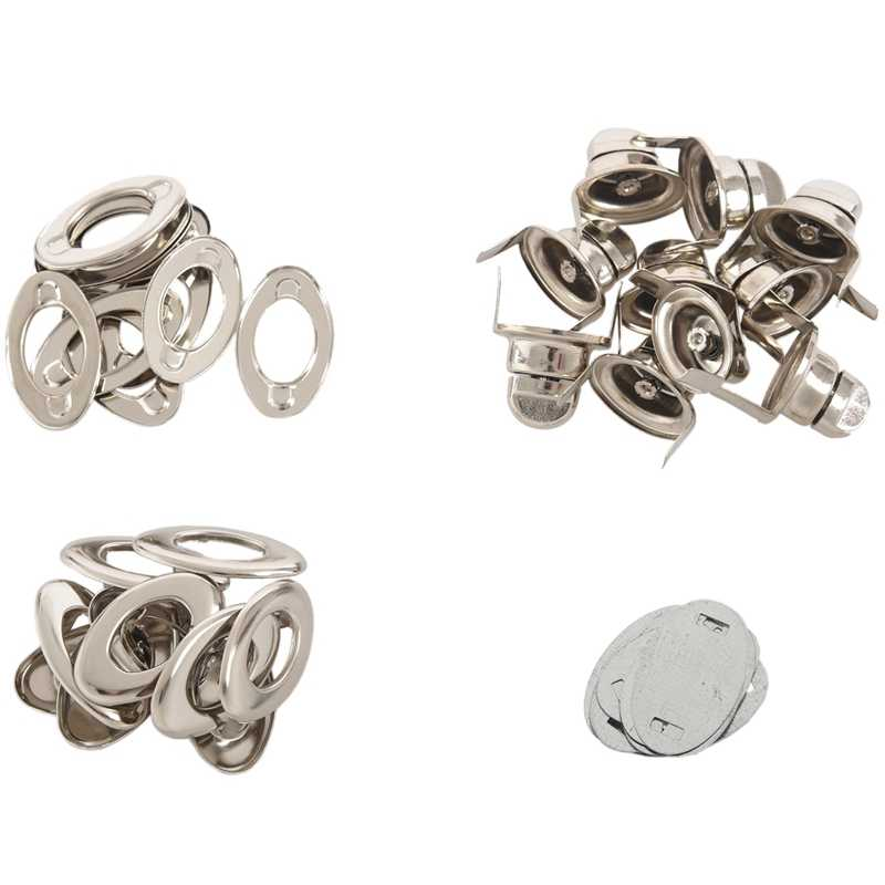 10 Sets Silver Tone Purse Twist Turn Lock 3.5x3.3cm(1 3/8 inchx1 2/8 inch)