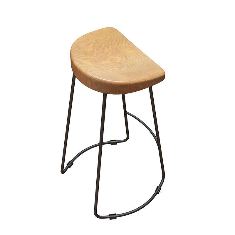 Nordic Solid Wood Bar Chair Modern North European And American Simple Bar Stool Bar Chair Creative Fashion High Stool Customizat