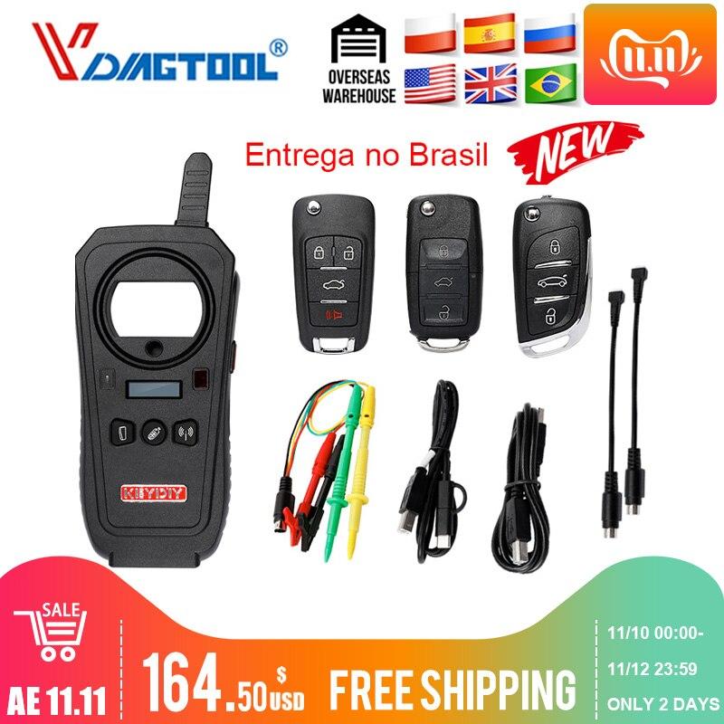 Vdiagtool keydiy KD-X2 remote maker unlocker e gerador-transponder clonagem dispositivo com 96bit 48 transponder função de cópia
