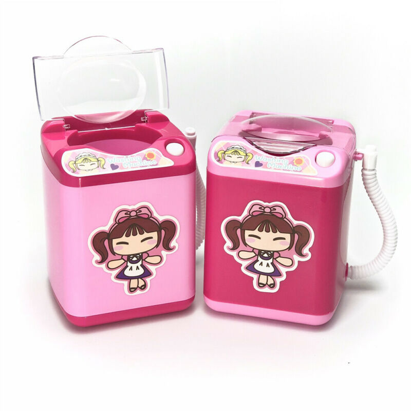 Mini Electric Washing Machine Dollhouse Toy Very Useful Wash Makeup Brushes