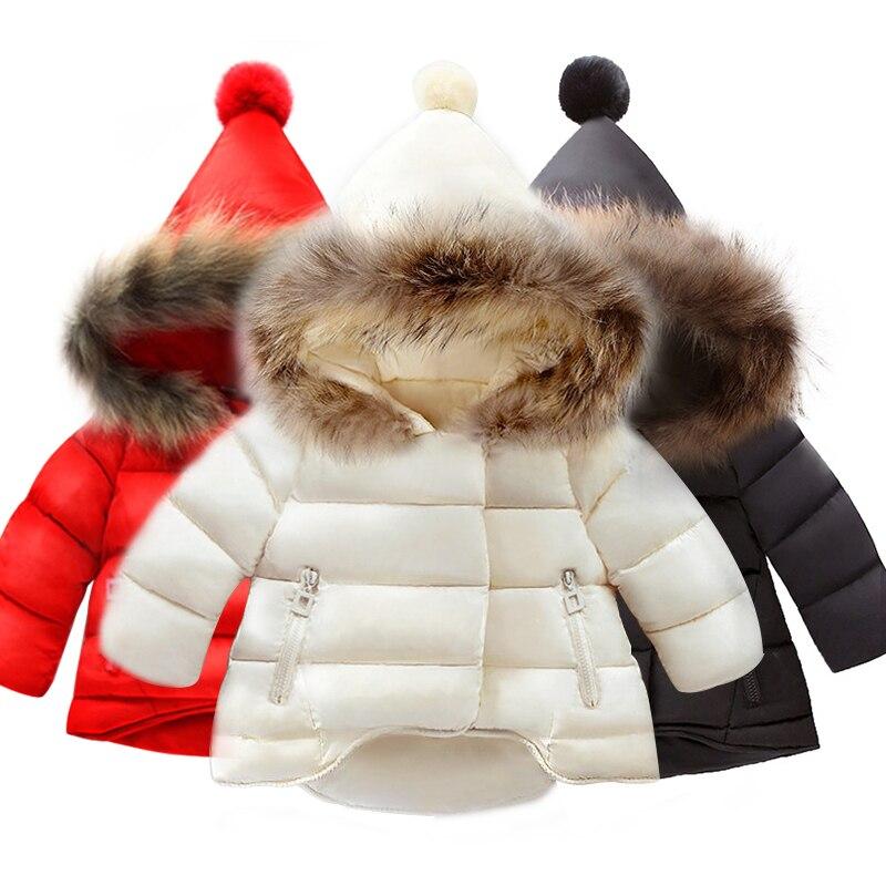 US $9.0 58% OFF Kinder Mantel Baby Mädchen winter Mäntel langarm mantel mädchen warme Baby jacke Winter Oberbekleidung cartoon fleece in Jacken &