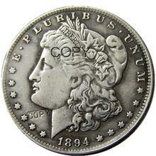 Монеты США 1894 морганский доллар посеребренные копии монет