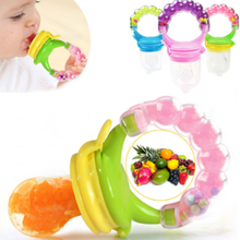 Baby Nipple Fresh Food Fruit Milk Feeding Bottles Learn Feeding Drinking Water Straw Handle Teething Pacifier with bell(China)