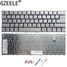 GZEELE новая английская клавиатура для ноутбука в США для Acer Aspire S7 391 S7 392 MS2364 Серебряная клавиатура без подсветки