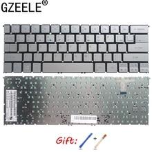 Gzeele novo eua inglês teclado do portátil para acer aspire S7 391 S7 392 ms2364 prata teclado sem luz de fundo