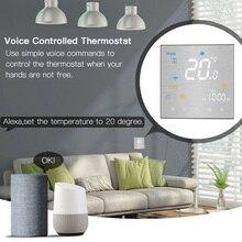Голосовое управление NTC сенсор ЖК-дисплей программируемый термостат домашние сенсорные кнопки контроль температуры Лер для Alexa Google