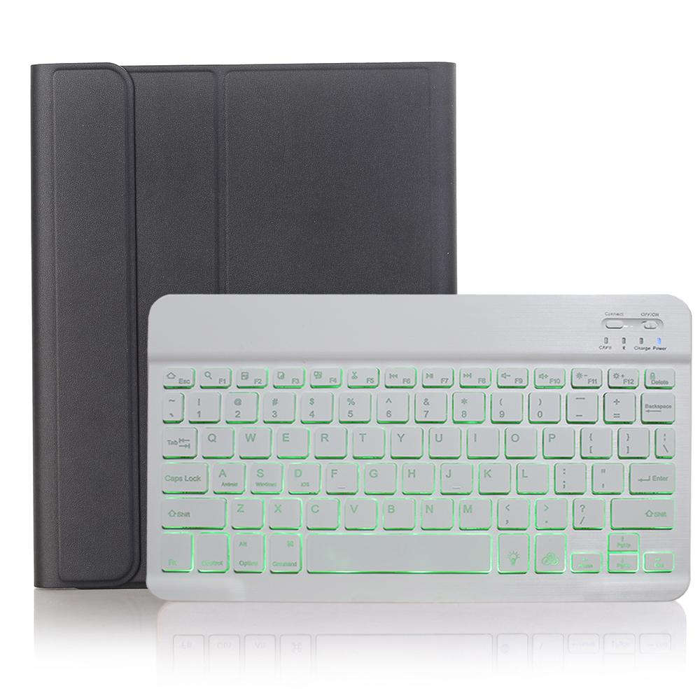 Black with White White Keyboard Case for iPad Air 4th 4 10 9 2020 A2324 A2072 Cover 7 Colors Backlit