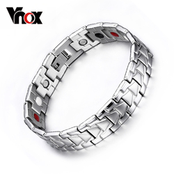 VNOX Magnetic Bracelet Bangle for Men Healthy Care Stainless Steel Chain free Box