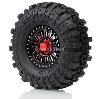 """4pcs 1.9"""" Wheel Rim Beadlock Tires 110mm For 1:10 RC Axial SCX10 SCX10 II 90046 90047 TRX-4 Tamiya CC01 MST jimny TF2 D90 D110"""