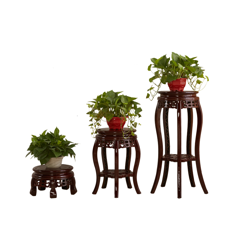 Wood  Plastic Flowerpot Frame Single Fake Something Antique Balcony Indoor To Ground Storage Shelves
