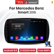 Junsun V1 Pro 4G+64G Android 10.0 4G Car Radio Multimedia Player For Mercedes Benz Smart 2016 GPS Navigation no 2din autoradio
