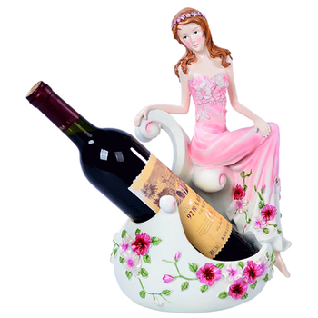 Pretty Girl Wine Rack Bottle Holder Mount Dining Room Restaurant Bar Wine Cabinets Display Shelf Home Storage Furniture Decor resin wine girl wine rack best bottle holder egyptian goddess wine stand accessories home bar decor wine holder gift