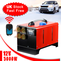 5KW Air Diesels Parking Heater 12V 4 Hole Car Heater+LCD Monitor+Remote Control For Truck Boat Trailer Touring Car Campervans