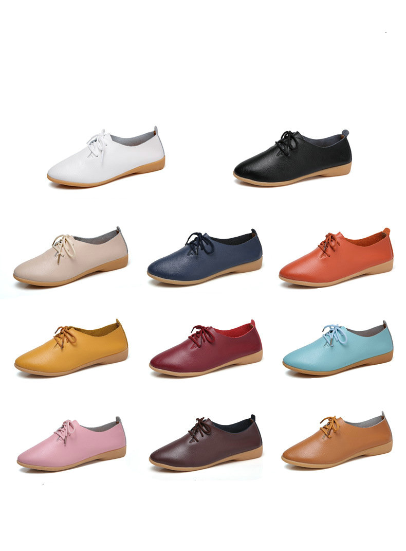 Genuine Leather Summer Loafers Women Casual Shoes Moccasins Soft Pointed Toe Ladies Footwear Women Flats Shoes Female